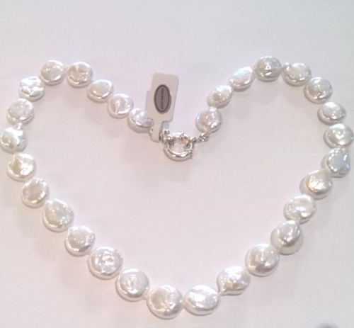 11-12mm Coin Pearl Necklace